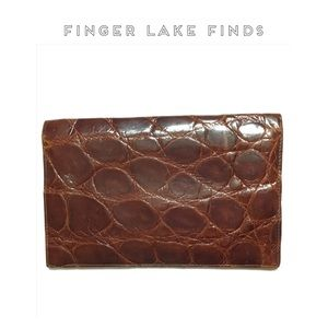 Brown Alligator Skin Billfold